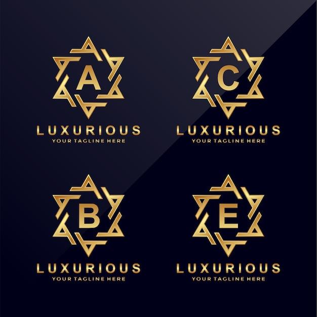 A, b, c, e luksusowe logo