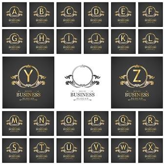 A do z. złota elegancki zestaw logo