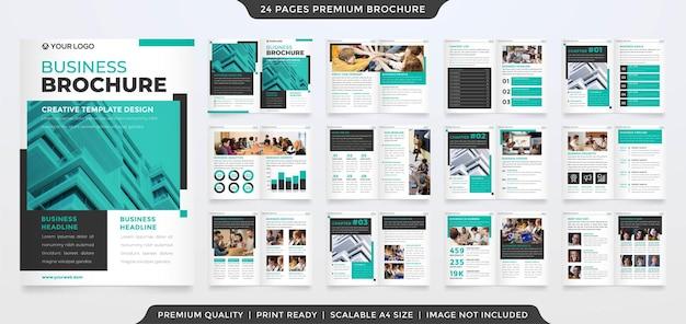 A4 bifold broszura edytowalny szablon układu wektor premium