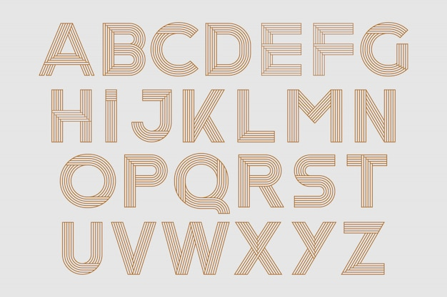 Abc, Geometryczny Kształt Font Wektor Typu Alfabet Typeset Premium Wektorów