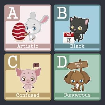 Abcd design zwierząt
