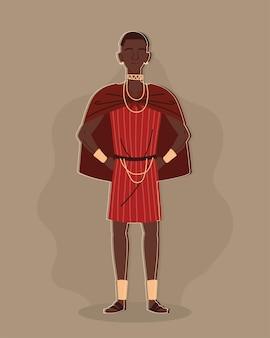 Aborygen w tradycyjnym stroju