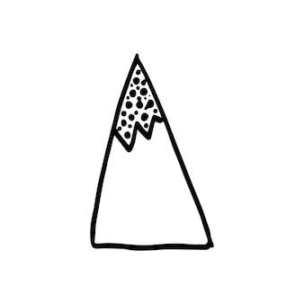 Absctract nordic design mountain do dekoracji wnętrz, drukowania plakatów, kartki greating, baneru bussines, opakowania w nowoczesnym skandynawskim stylu w wektorze