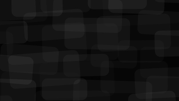 Abstarct tło z półprzezroczystych prostokątów z zaokrąglonymi rogami w czarnych kolorach