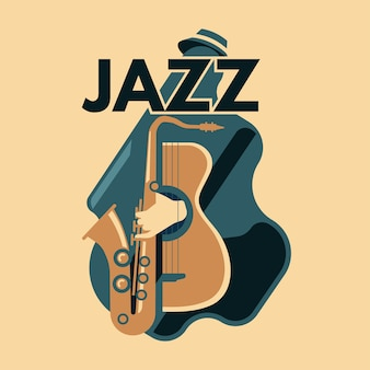 Abstract jazz art and music instrument