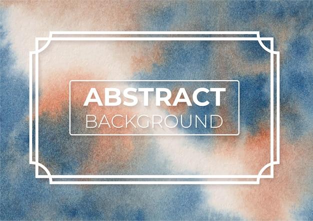 Abstrakcja burnt sienna i prusski kolor niebieski nowoczesny elegancki wzór tła