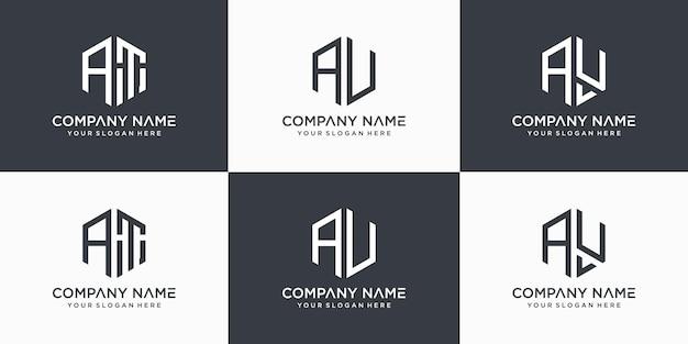 Abstrakcja szablon logo wektor list