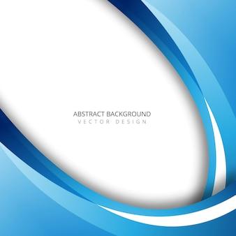 Abstrakcjonistyczna błękitna kolorowa falowa tło ilustracja