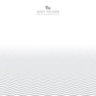 Abstrakcjonistyczna błękitna falista wzór linia geometryczny tło.
