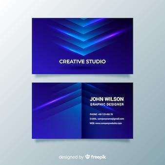 Abstrakcjonistyczna błękitna gradientowa wizytówka