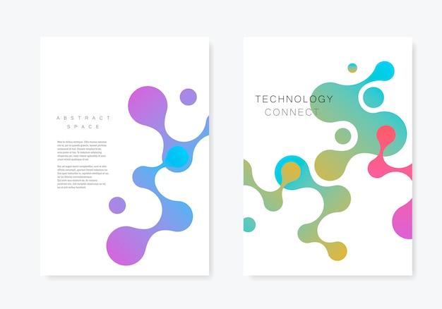 Abstrakcjonistyczna broszurka z geometrycznym łączy cząsteczkę
