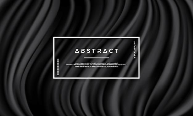 Abstrakcjonistyczna czarna tekstura, falowy wektorowy tło