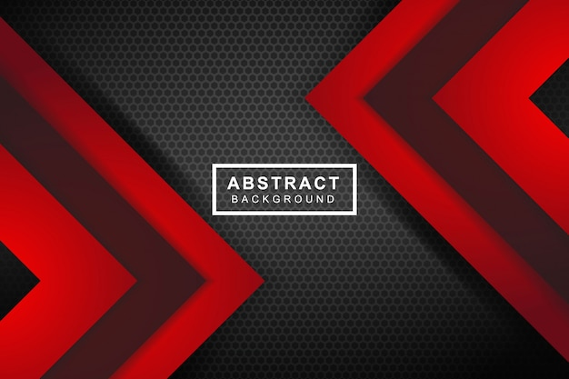Abstrakcjonistyczna czerwona strzała na zmroku siwieje okrąg siatki projekta nowożytnego futurystycznego tło