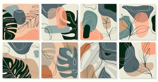 Abstrakcjonistyczna egzotyczna kolekcja modny tło