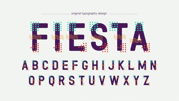 Abstrakcjonistyczna futurystyczna kolorowa typografia
