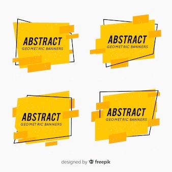 Abstrakcjonistyczna geometryczna sztandar kolekcja