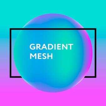 Abstrakcjonistyczna gradientowa sfera fiołek, menchia, błękit.