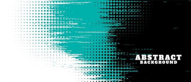 Abstrakcjonistyczna grunge tekstura i halftone sztandaru projekt