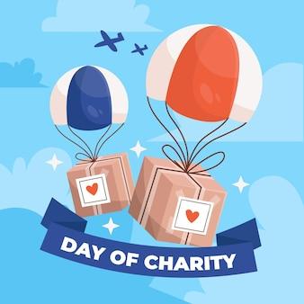 Abstrakcjonistyczna ilustracja międzynarodowy dzień dobroczynność
