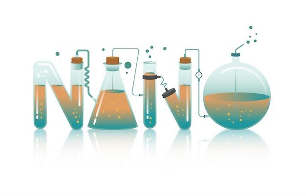 Abstrakcjonistyczna ilustracja nano słowo ja