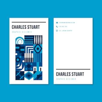 Abstrakcjonistyczna klasyczna błękitna wizytówka szablonu kolekcja