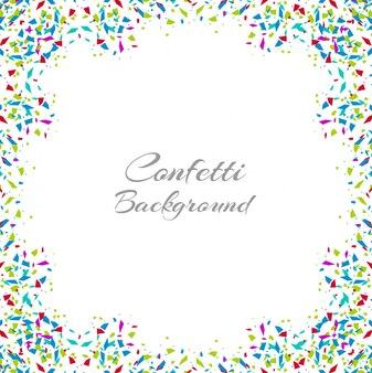 Abstrakcjonistyczna kolorowa confetti rama odizolowywająca