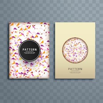 Abstrakcjonistyczna kolorowa confetti wzoru broszurki projekta ilustracja