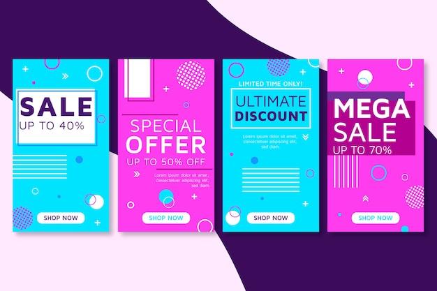 Abstrakcjonistyczna kolorowa instagram kampania sprzedaży opowiadań