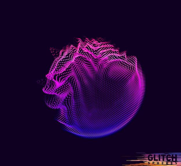 Abstrakcjonistyczna kolorowa siatka na ciemnym tle