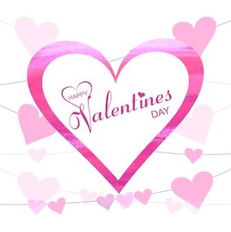 Abstrakcjonistyczna kreatywnie valentine dnia serc tła ilustracja