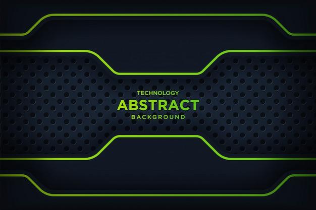 Abstrakcjonistyczna kruszcowa czerni zieleni ramy układu nowożytna technika