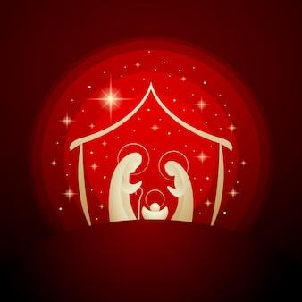 Abstrakcjonistyczna narodzenie jezusa sceny ilustracja