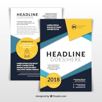 Abstrakcjonistyczna nowożytna biznesowa broszurka