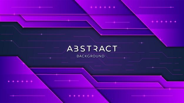 Abstrakcjonistyczna nowożytna futurystyczna technologia geometryczny tło z purpurową gradientową premią