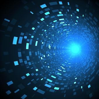 Abstrakcjonistyczna przyszłościowa technologia, cyber hi-tech tło. fantastyka naukowa