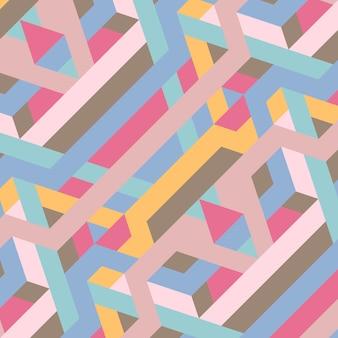 Abstrakcjonistyczna retro geometryczna deseniowa ilustracja