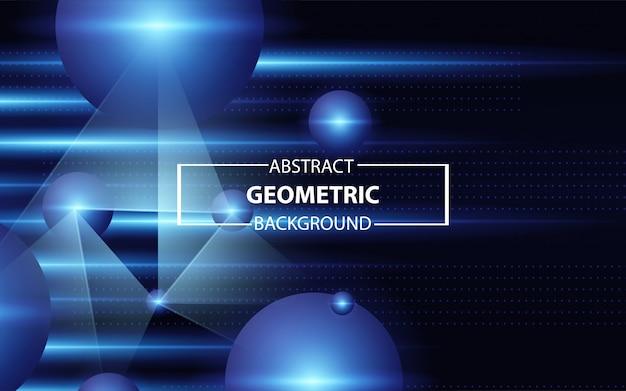 Abstrakcjonistyczna sfera z błękitnym promień technologii tłem