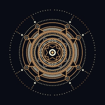 Abstrakcjonistyczna święta geometryczna ilustracja