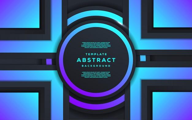 Abstrakcjonistyczna technologia i futurystyczny z gradientowym geometrycznym tłem