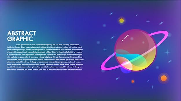 Abstrakcjonistyczna technologii mąci planety projekta tła nauki komunikacyjna fikcja