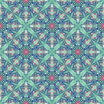 Abstrakcjonistyczna tło ornamentu ilustracja, bezszwowy wzór z kwiatami