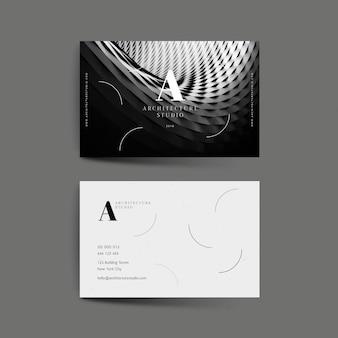 Abstrakcjonistyczna wizytówka z fotografia szablonem
