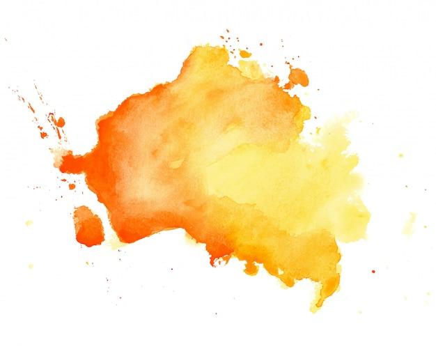 Abstrakcjonistyczna żółta ręka rysujący akwareli tekstury tło
