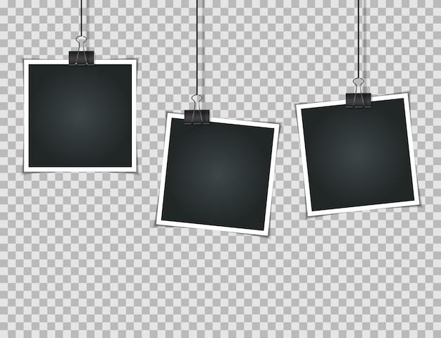 Abstrakcjonistyczne fotografie na przejrzystej ilustraci
