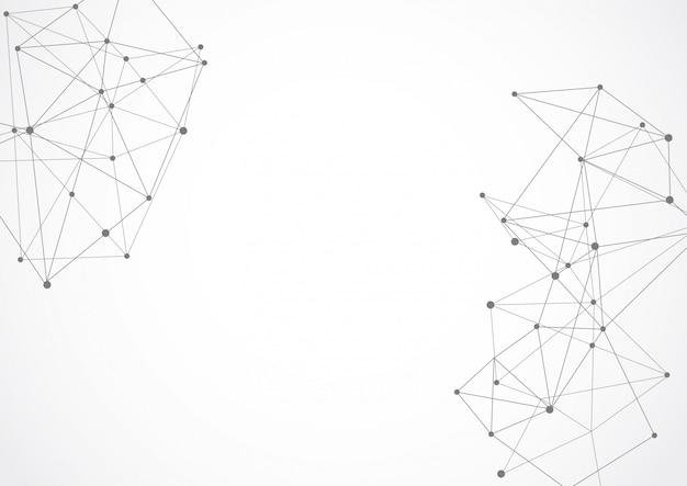 Abstrakcjonistyczne geometryczne złączone kropki i linie
