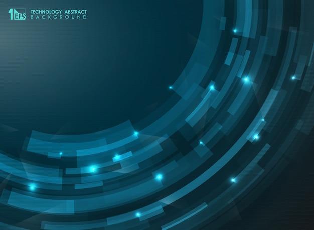 Abstrakcjonistyczne gradientowe błękitne futurystyczne lampasa krzywy linie