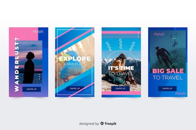 Abstrakcjonistyczne kolorowe sprzedaży instagram historie