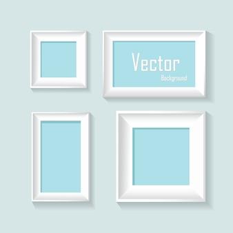 Abstrakcjonistyczne pastelowe ramy projektują wektorowego tło
