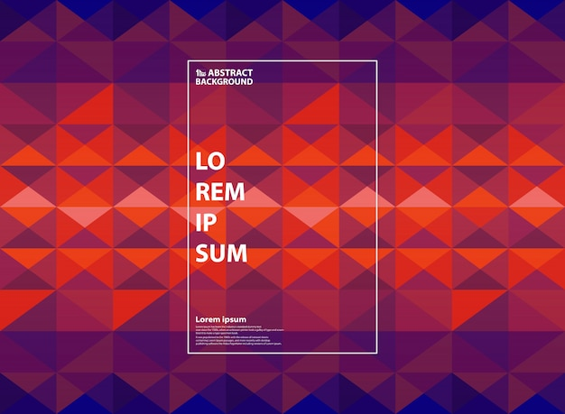 Abstrakcjonistyczne purpury i pomarańczowy geometryczny gradientowy tło.