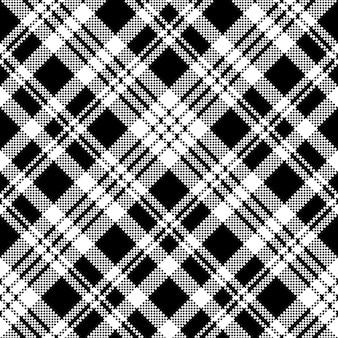 Abstrakcjonistycznego czek piksla bezszwowy deseniowy czarny i biały